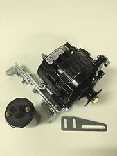 "New Willys Jeep Alternator One Wire Black 12V 105A, 5/8"" Pulley, Bracket, Coil"