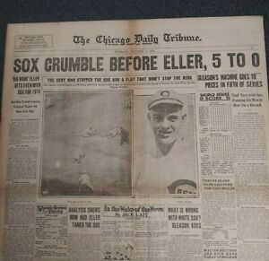 1919 World Series - Baseball - Black Sox Scandal - White Sox - CHICAGO Newspaper