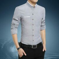 Fashion Business Shirt Casual Slim Fit Long Sleeve Men's Tops Dress Shirts