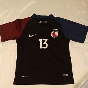 2016 USA Soccer Nike Alex Morgan #13 Dri-Fit Youth Jersey Size 24 Girls