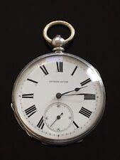 Solid Silver Open Face Pocket Watch circa 1890