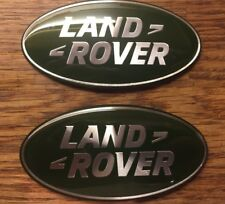 2 X LAND ROVER GRILLE GRILL BADGE GREEN SILVER DISCOVERY FREELANDER 2 DEFENDER