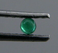 2mm ROUND CABOCHON NATURAL UNTREATED COLOMBIAN EMERALD PERFECT GREEN