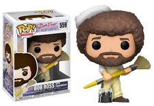 POP Television Bob Ross with Paintbrush Vinyl Figure #559 [Overalls]