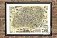 Old Map of Allentown, PA from 1901 - Vintage Pennsylvania Art, Historic Decor