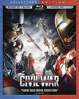 Marvels Captain America: Civil War (3D B Blu-ray