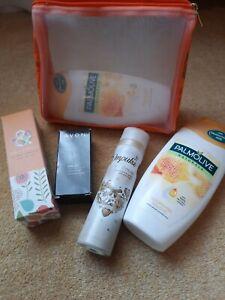 Bath And Body Works Bundle.x2 palmolive shower gels,impulse,Avon nail enamel,bag