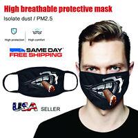 Cigar Smoking Men Face Mask Unisex Athletic Stretch Fabric Washable Reusable