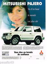 PUBLICITE ADVERTISING 065  1995  MITSUBISCHI   PAJERO GLS TD
