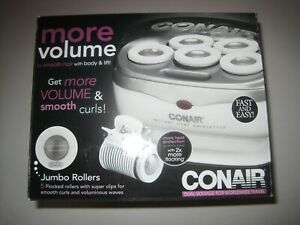 Conair Instant Heat Travel Hot Rollers; White OPEN BOX!