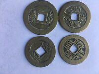 Alte Münze Konvolut 3 Chinesische Cash Münze Lochmünze Amulett Talisman Glück