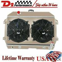 3 Row Radiator Shroud Fan For Nissan Datsun 240Z 260Z/S30 Chevy V8 1970-75