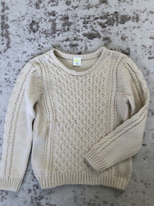 New crazy 8 ivory cream boys cotton knot pullover sweater size 4T