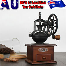 Vintage Coffee Grinder Bean Nuts Hand Manual Operated Burr Mill Grinding Machine