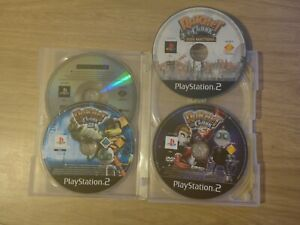 Ratchet & Clank 1,2,3 & Size Matters Disc Only Bundle - Sony PlayStation 2 PS2