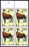 1978 MNH Blk, Okapi, Wild Animals -