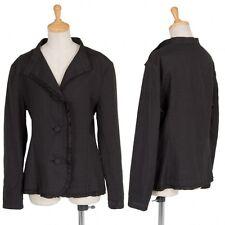 (SALE) Yohji Yamamoto NOIR ruffle design linen jacket Size About  M(K-19384)