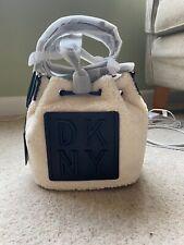 DKNY Tilly Stack Drawstring Bucke Bag - Sheepskin - Brand New