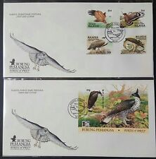 1996 Malaysia Birds of Prey 4v Stamp + Mini-Sheet on 2 FDC (Melaka Cachet) Lot B