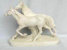 Wunderschöne Skulptur,Pferdegruppe,Hertwig & Co,Katzhüte Porzellan,Top,RAR