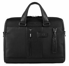 PIQUADRO Brief Computer Briefcase Aktentasche Tasche Nero Schwarz