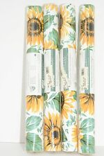Sunflower Vinyl Wallcoverings Fabric-Backed Wallpaper 4 Rolls Wall-Tex 224 Sq Ft