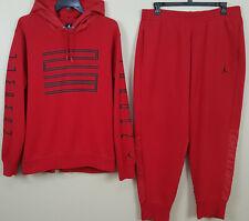 NIKE JORDAN XI RETRO 11 SWEATSUIT HOODIE + PANTS WIN LIKE 96 RED RARE (SIZE 2XL)