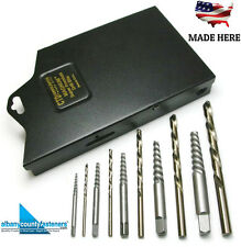 Norseman Bolt Extractor 10 Piece Set - Left Hand Drill 58510 - USA Made