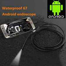 7mm 1.5M Android Phone Endoscope IP67 Inspection USB Borescope LED Camera