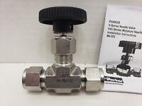 Parker V Series Stainless Steel 316 Needle Valve, Inline, Hand Wheel 8A-V8LK-SS