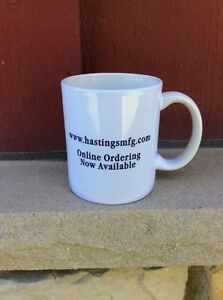 VINTAGE NOS COFFEE MUG #012- Hastings Manufacturing Mascot Piston Ring