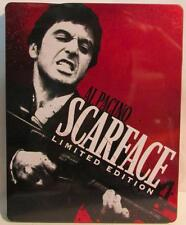 Al Pacino Scarface Limited Edition DVD & Blu Ray w/ metal tin FREE Shipping!