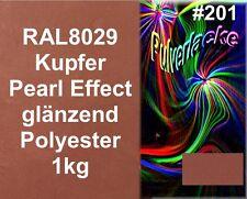 PULVERLACK 1kg Beschichtungspulver Pulverbeschichtung Kupfer Metallic RAL8029