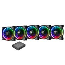 Thermaltake Riing Plus RGB 120mm PWM Fans - Premium 5 Pack with Software Control