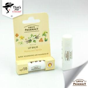 Green Pharmacy Lip Balm Honey and Vanilla 3.6g Super Nourishing