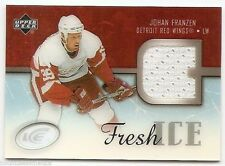 05/06 UPPER DECK ICE FRESH ICE GLASS PARALLEL JERSEY Johan Franzen #FIJF