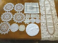 Vintage Crocheted Dolies Assorted 16