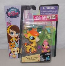 Littlest Pet Shop Pierre de Long Giraffe #3812 Siesta Perez Bird #3813