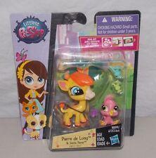 Littlest Pet Shop Pierre de Long Giraffe #3812 Siesta Perez Bird #3813