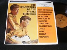 THE GOLDEN HITS OF THE EVERLY BROTHERS Warner Stereo Banner Orignl LP Gold Label