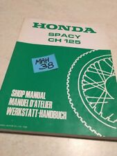 Honda Spacy CH125 Ch 125 Revision Technik Moto Werkstatthandbuch Workshop Dienst