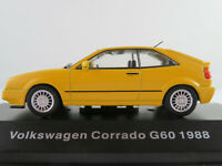 DeAGOSTINI #22 VW Corrado G60 (1988) in gelb 1:43 NEU/PC-Vitrine
