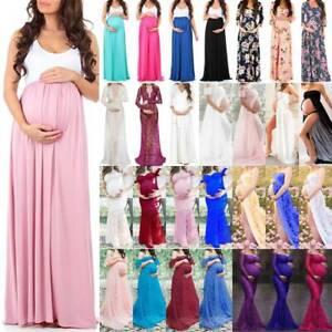 Schwangerschafts Umstandsmode Abendkleid Fotoshooting Maxi Kleider Umstandskleid