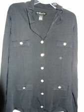 """MY FAVORITE THINGS BY COLLEEN LOPEZ""""Black w/Collar,Button Front Jacket"""" Size 1X"""