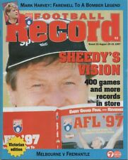 Football Record 1997 round 22 MELBOURNE v FREMANTLE early Dockers record