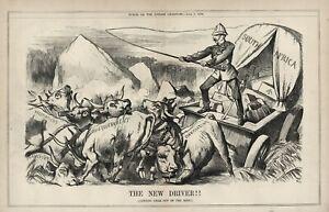 RARE PUNCH 1879 Cartoon BRITISH IMPERIALISM - South Africa - ANGLO-ZULU WAR