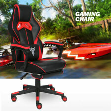 Massage Racing Gaming Chair Swivel Computer Office Desk Seat Recliner Footrest