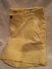 NWT Women's Sonoma Mid Rise Stretch Shorts YELLOW Shorts  Size 12