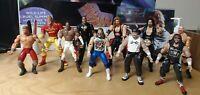 Huge bandle WCW/WWF Vintage Smash N Slam Action Figures Lot Loose L@@k!