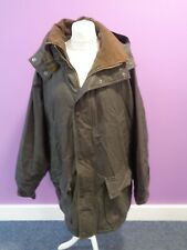 BARBOUR Duracotton Parka Waterproof Jacket Dark Brown Size XXL Detachable Hood